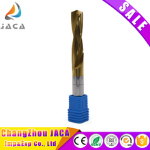 Tungsten carbide twist drill bit for metal