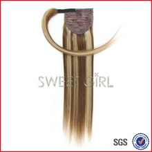90 gram 50 cm 8/24 remy Indian human hair ponytail with competitive price