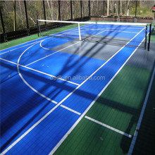 suspend drainage interlock tennis sport surface