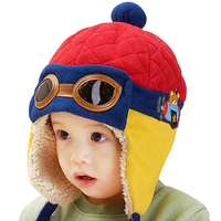 Best Christmas Gift Corduroy Earflap baby Kids Pilot Aviator Cap, Warm Soft Beanie Baby Fur Hats for winter
