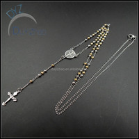 latest designer stainlesss steel rosary necklace