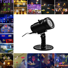 14 Patterns slides led projection light with IP65 waterproof for decorative concrete wall and house Xmas led light