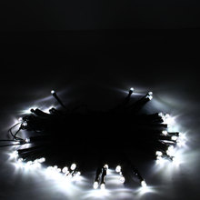 50LED Solar Powered String Fairy Light Party Xmas Outdoor Garden Deco Lamp White