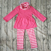 Pictures Of Latest Gowns Designs hot pink t-shirts and stripes pants baby wholesale clothing karachi
