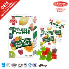 Sweet Wholesale Halal Gummy Jelly Candy With Fruit Juice