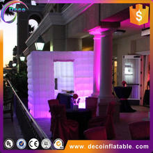 White Inflatable Photo Booth tent for Wedding Decoration