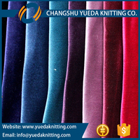 Plain Dyed Tricot Knitted Velvet Fabric with T/C Backing for Sofa, Curtain, Upholstery
