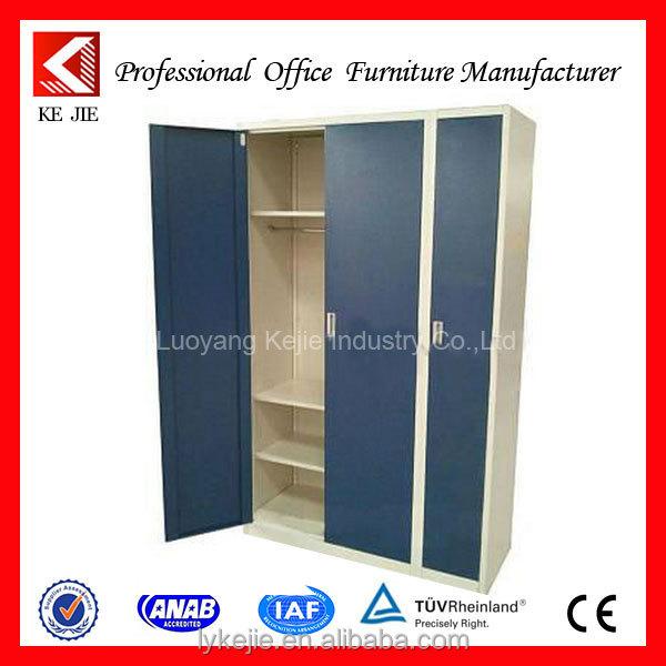Metal 3 Door Wardrobe For School Full Extension 3 Door Wardrobe Bedroom  Wooden Wardrobe Closet Clothes