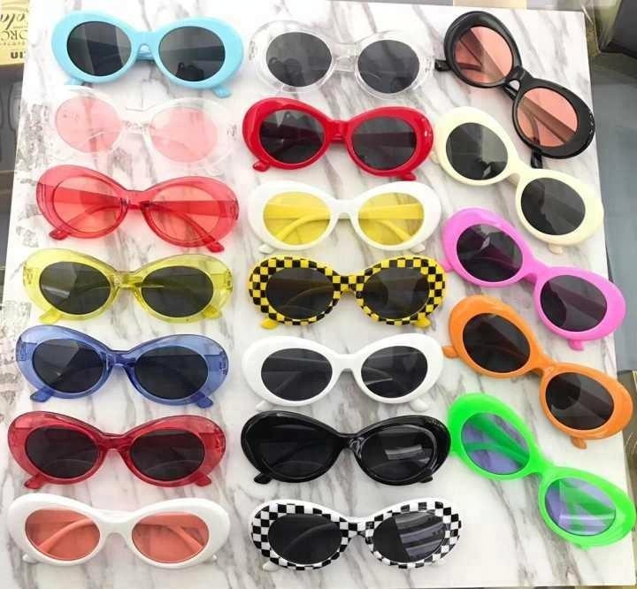 986526cb30 New Trend Kurt Cobain Hot Sale 80s Sun Glasses Harajuku Women Men 2017  Assorted Colors Oval Alien Sunglasses Vintage Sunglasses