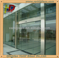 8mm bronze tempered glass for used commercial glass entry doors,aluminium glass double entry doors