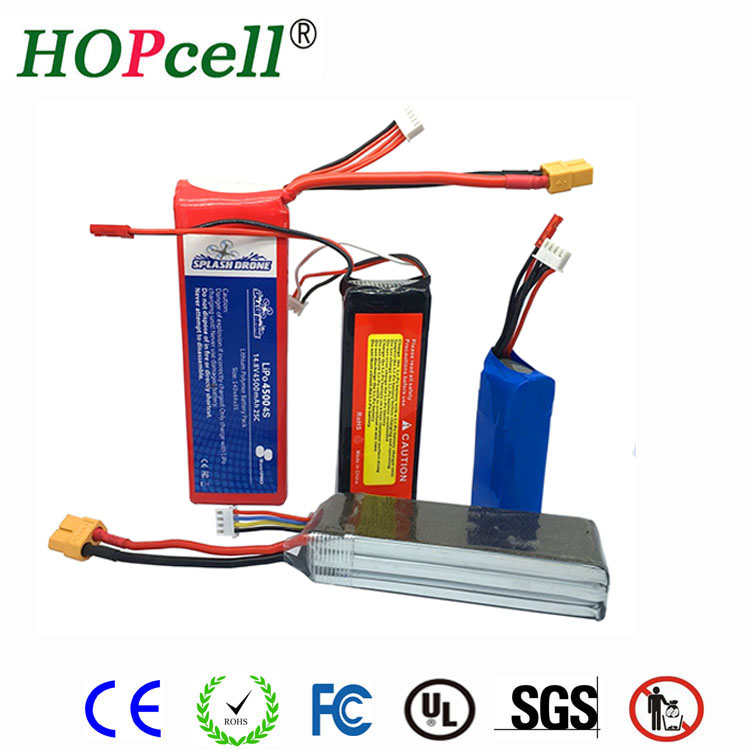 Professional manufacturer selling rechargeable lipo 4S 14.8V 4500mAh 25C RC battery for helicopter /drone / plane
