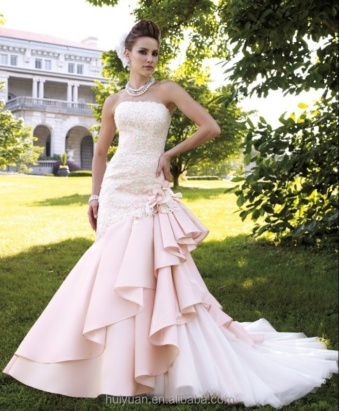 lace mermaid bottom tulle wedding dress strapless patterns