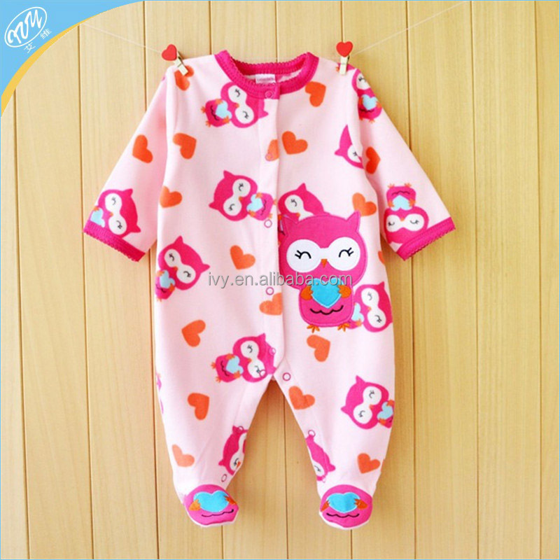 Brand New Baby Clothes Cotton Fleece One Piece Leisure Body Suit Clothing Toddler Jumpsuit