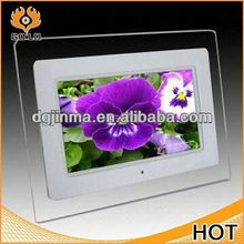 custom video sex full photos frame,photo frame easel back,fashion glass frame/ flower glass photo frame