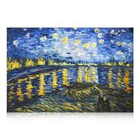 Fantastic Dutch Artistic Artwork Most Recognized Starry Night Van Gogh Oil Painting