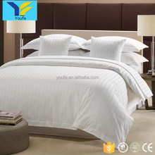 China supplies 3 cm white stripe thick cotton luxury hotel bedding set wholesale bed sheets duvet cover sets