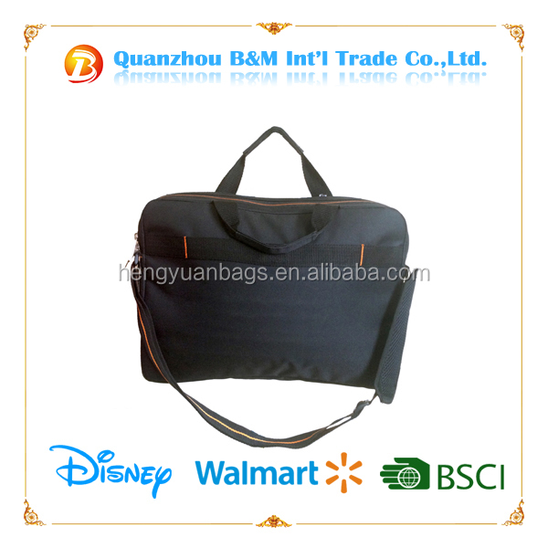 black Notebook Messenger Pouch Laptop Computer Shoulder Handle Bag for macbook