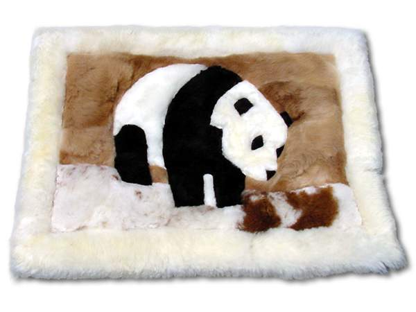 Panda Bear Alpaca Rug