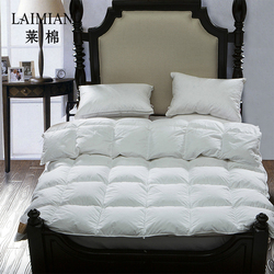 OEM customized luxury 5 star hotel goose down duvet with cotton fabric