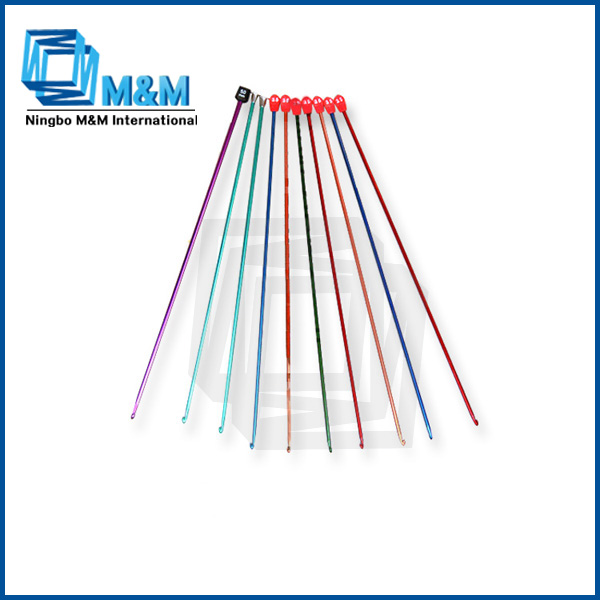 Custom hand driven flat circular knitting needles