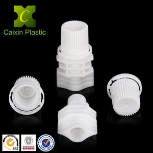 plastic stand up spout pouch with big large screw cap