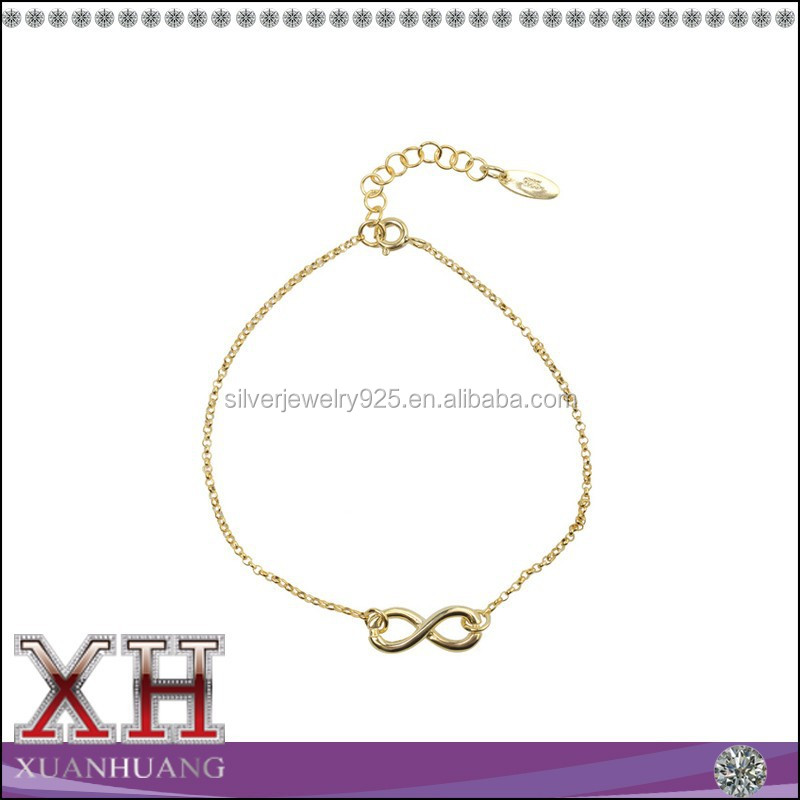 Sterling Silver Letter 8 Infinity Bracelet Necklace Jewelry Wholesale