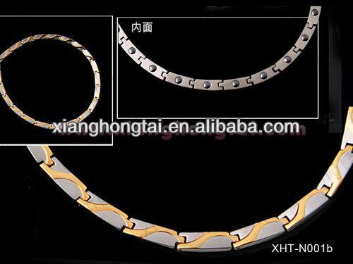 2013 cheap wholesale custom titanium rope necklace health and fashion jewelry