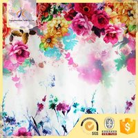 wholese 100% polyester fashion floral printed patterned korean chiffon fabric