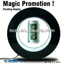 Most Attractive ! Magnetic Floating display stand for plastic bottle ,beer koozie with bottle opener