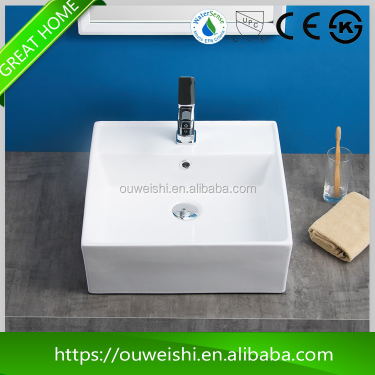 Wholesale new product 460*460*160mm MIDDLE EAST public bathroom sinks