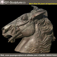 Cast Iron Horse Head Sculpture For Gardeb Decoration