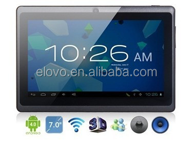 slim appearance quality configuration 7inch tablet PC Android4.0 full function with usb interface