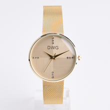 Luxury Brand Women Quartz Watch Steel Band Women Dress Fashion Gold Watches 3 Colors Available