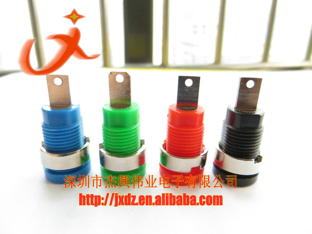 4mm binding post M12 banana panel socket 33mm red/black/yellow/blue/green/white banana jack
