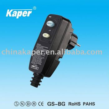 Portable RCD (GS Aprroved) Good selling in Germany KPPR-16-CP
