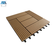 Water proof DIY wpc decking tile 30x30cm for outdoor