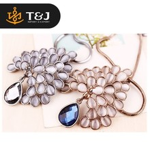2015 hot sale fashion jewelry summer new design peacock pendant necklace crystal, long alloy chain necklace