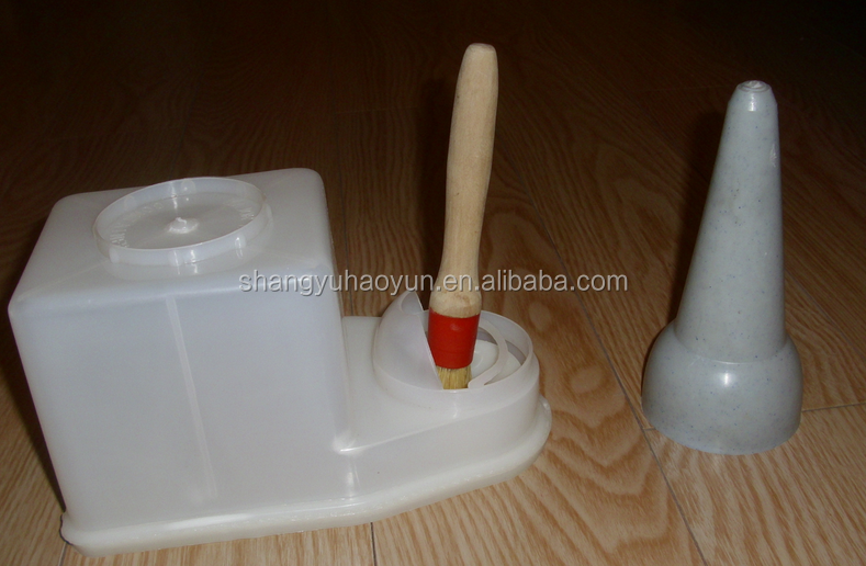 glue bottle with brush for shoe industry