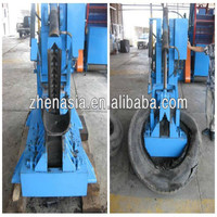 hot waste tire cutter / tire recycling equipment hydraulic