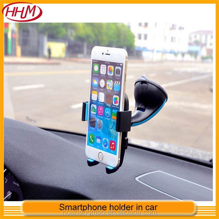 Automatic lock car phone holder 360 degree suction cup windshield general haptor bracket