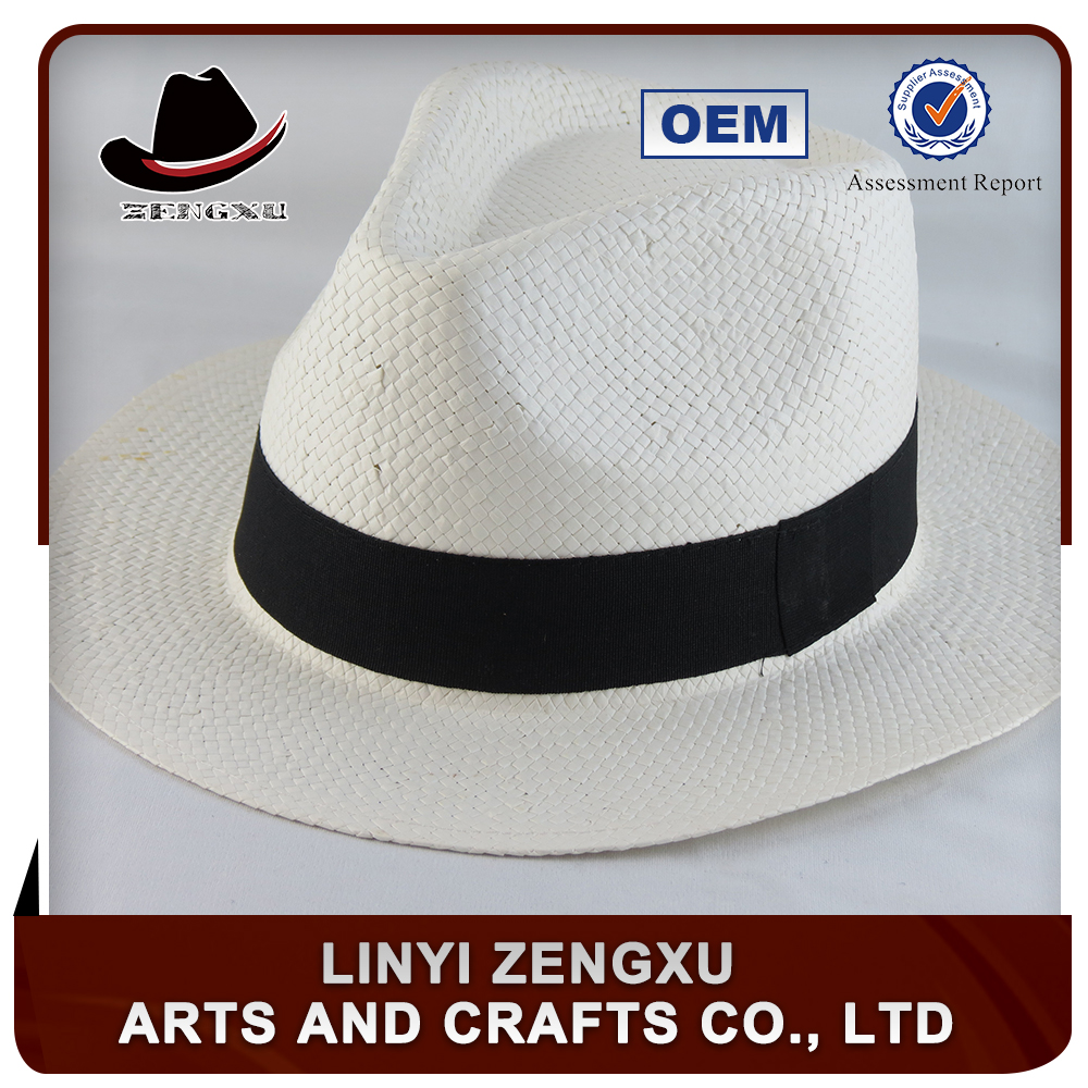 New fashion paper straw man hats panama hat cheap
