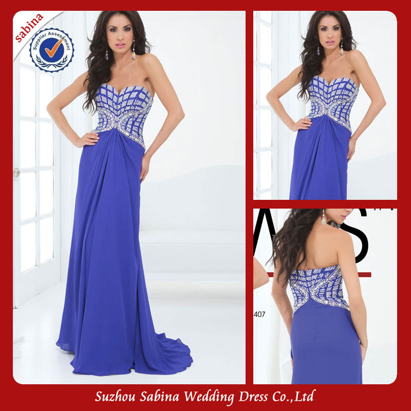 E0266 New Arrivals Chiffon Design Floor Length Movie Star Evening Dresses