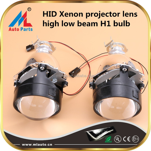 2.5 inch HID xenon projector lens light kit H1 lens high low beam with angel eye devil eye for car