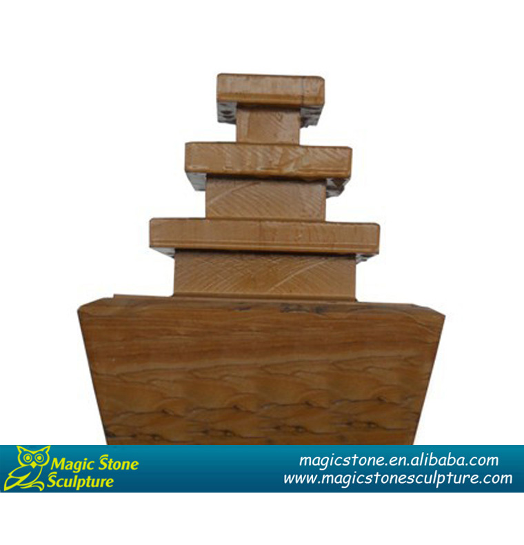 indoor layered square stone water fountain