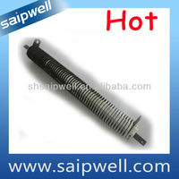 Finned tubular heating tube heater element
