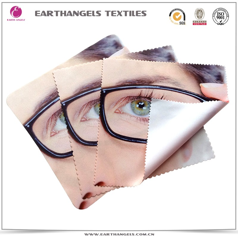 Custom CMYK Digital Printing Microfiber Glasses/Eyeglasses/Sunglasses Cleaning Cloth