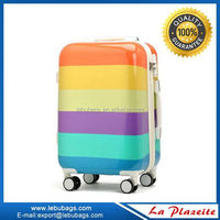 Hard Shell Abs Pc Luggage Suitcase with colorful printing