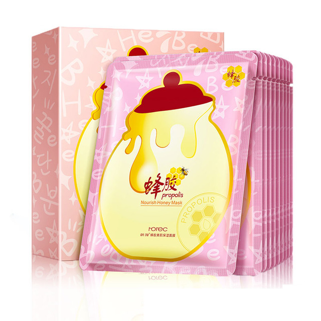 Private label HanChan skin care product natural honey nourishing mask sheet facial for face care two options