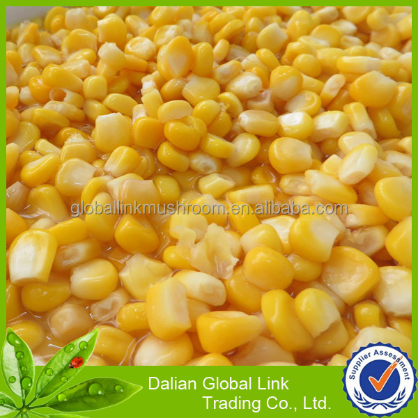 2017 crop canned sweet kernel corn manufacture season