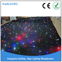 stage lighting/led star curtain/light sky blue wedding dresses